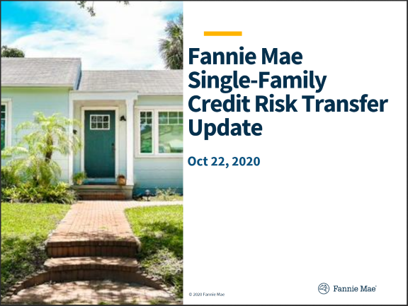 Fannie Mae Single-Family Credit Risk Transfer Update (Oct 2020)